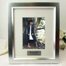 Graduation Personalised Photo Frame 5x7 Photo Silver
