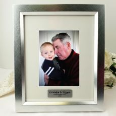 Grandpa Personalised Photo Frame 5x7 Photo Silver