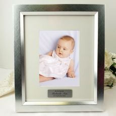 Christening Personalised Photo Frame 5x7 Photo Silver