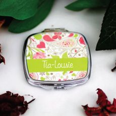 Sister Personalised Compact Mirror Gift - Paisley