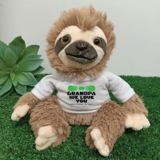 Personalised Grandpa Sloth Plush - Curtis