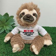 Personalised Poppy Sloth Plush - Curtis