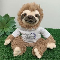 Personalised Graduation Sloth Plush - Curtis