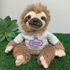 Personalised Mum Sloth Plush - Curtis