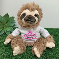 Personalised Nana Sloth Plush - Curtis