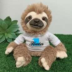 1st Birthday Personalised Sloth Plush - Curtis
