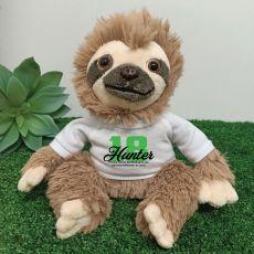 18th Birthday Personalised Sloth Plush - Curtis