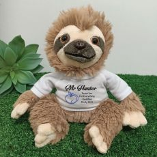 Personalised Teacher Sloth Plush - Curtis