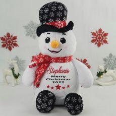 Personalised Christmas Snowman Plush