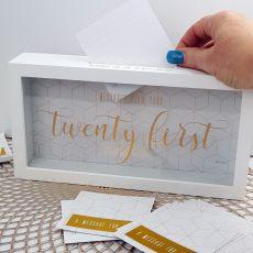 21st Birthday Message Keepsake Box