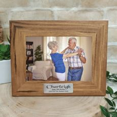 Birthday Teak Photo Frame with Gold Plaque