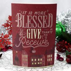 Christmas Light Up Lantern -  Blessed