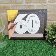 60th Birthday Signature Number Block
