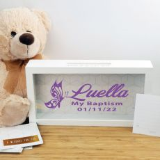 Personalised Baptism Message Box Guest Book