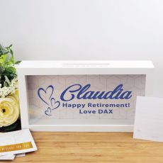 Personalised Retirement Message Box Guest Book
