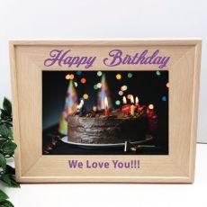 Birthday 5 x 7 Photo Frame with Glitter Print