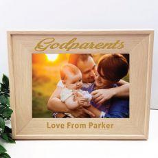Godparents 5 x 7 Photo Frame with Glitter Print