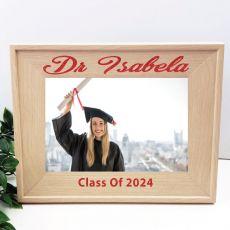 Graduation 5 x 7 Photo Frame with Glitter Print