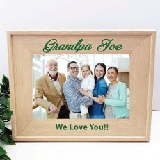 Grandpa 5 x 7 Photo Frame with Glitter Print