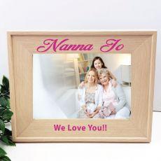 Nan 5 x 7 Photo Frame with Glitter Print