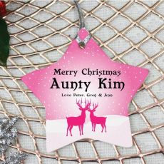 Personalised Aunty Christmas Decoration - Star