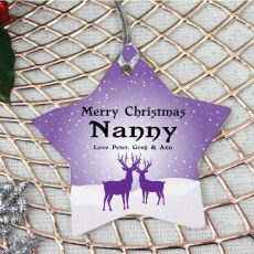 Personalised Nana Christmas Decoration - Star