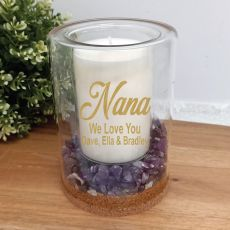 Nan Patchouli Lavender Candle With Gemchips