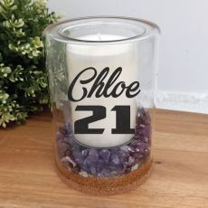 21st Patchouli Lavender Candle With Gemchips