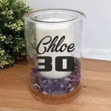 30th Patchouli Lavender Candle With Gemchips