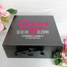 Baby Keepsake Box Black Hamper Gift Box