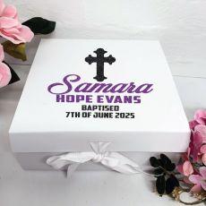 Baptism Keepsake Box White Hamper Gift Box