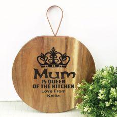 Mum Queen of The Kitchen Wood Hanger