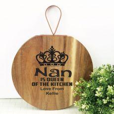 Nana Queen of The Kitchen Wood Hanger