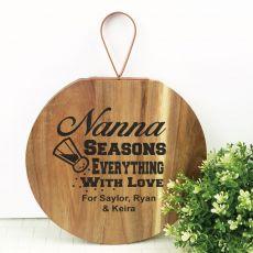 Nana Seasons Everything With Love Wood Hanger