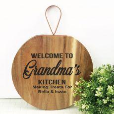 Welcome To Grandma's Kitchen Wood Hanger
