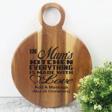 Made with Love Acacia Board - Mum