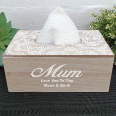 Personalised Mum Tissue Box Cover
