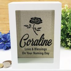 Naming Day Personalised Money Box Photo Insert - Gold