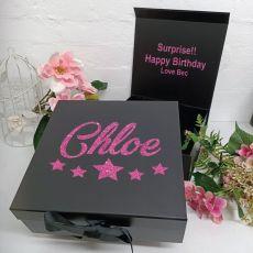 Birthday Keepsake Hamper Gift Box Black