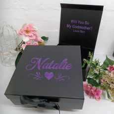 Godmother Proposal Keepsake Gift Box Black