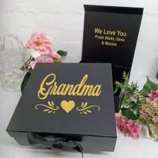 Grandma Keepsake Gift Box Black