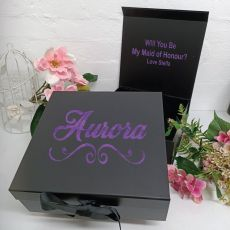 Maid of Honour Proposal Keepsake Gift Box Black