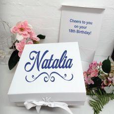 18th Birthday Keepsake Hamper Gift Box White