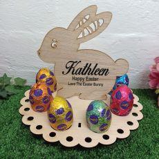 Personalised Easter Rabbit Wooden Egg Holder (8)
