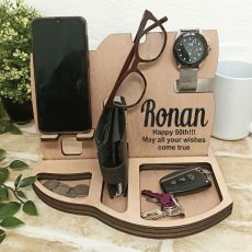 Phone Docking Station Desk Organiser - 50th Birthday