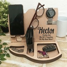 Best Man Personalised Phone Docking Station Desk Organiser