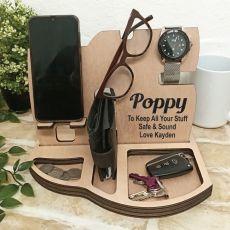 Pop Personalised Phone Docking Station Desk Organiser