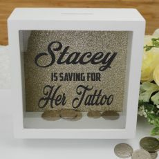 Personalised Saving For Money Box - Gold