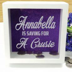 Personalised Saving For Money Box - Purple