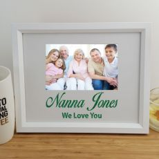 Nan Personalised Photo Frame 4x6 Glitter White